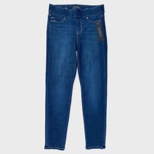 Liverpool Jeans Company Jeans - Liverpool The Slim Pull On Dark Wash Jeans 4/27